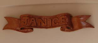 Janice name board